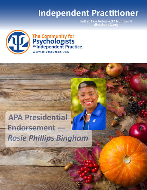 Fall 2017 | Independent Practitioner