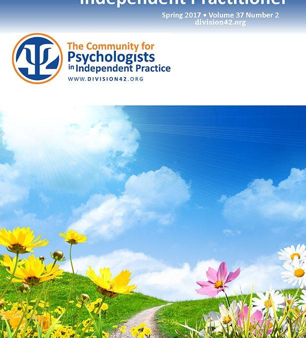 Spring 2017 | Independent Practitioner